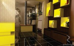 Amenajare magazin ( yellow store)